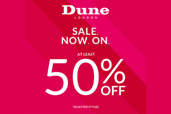 Dune London SALE – ALL STYLES AT LEAST 50% OFF