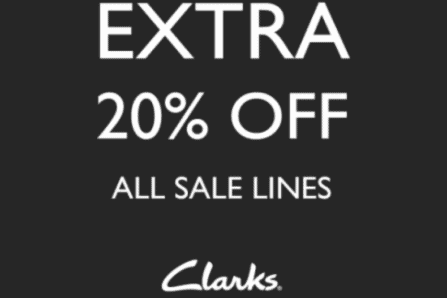 Clarks Outlet SALE – Extra 20% off All Sale Lines