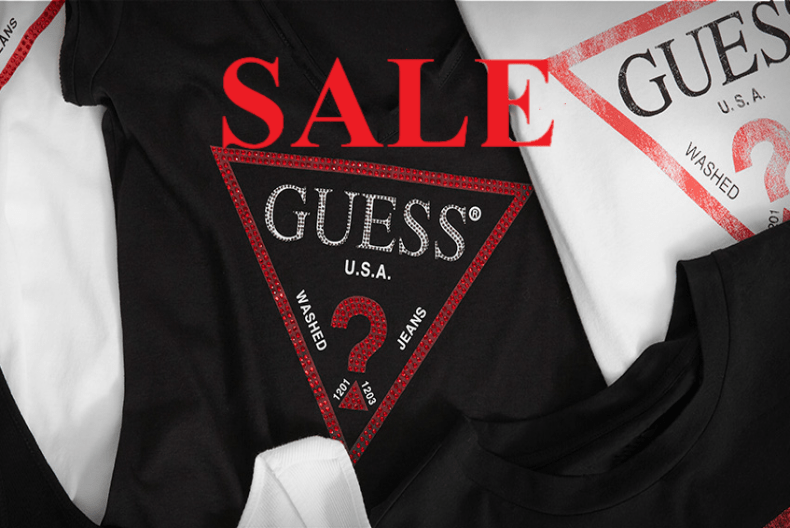 Guess Buy 3 or more items in SALE and get an extra 20% Off