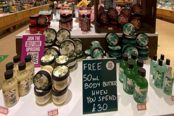 The Body Shop Spend £30 in store and get a free 50ml Body Butter
