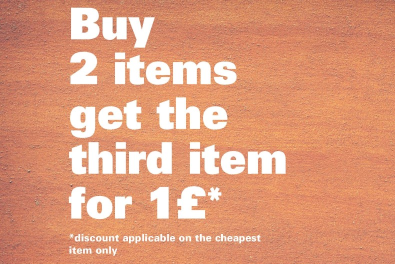 Lee & Wrangler Buy 2 items get the third item for £1*
