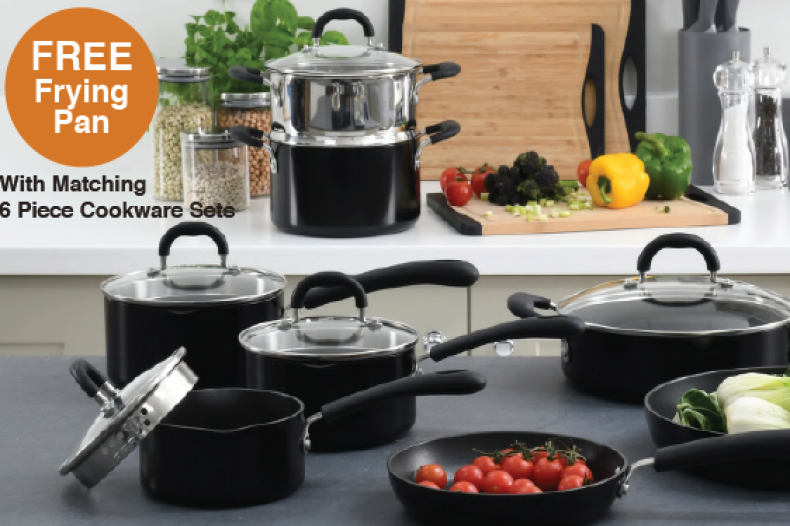 ProCook Get a free frying pan with matching 6-piece cookware sets